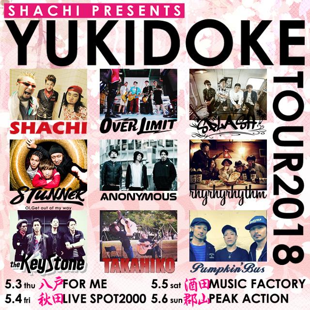 "SHACHI pre. ""YUKIDOKE TOUR2018""の写真"