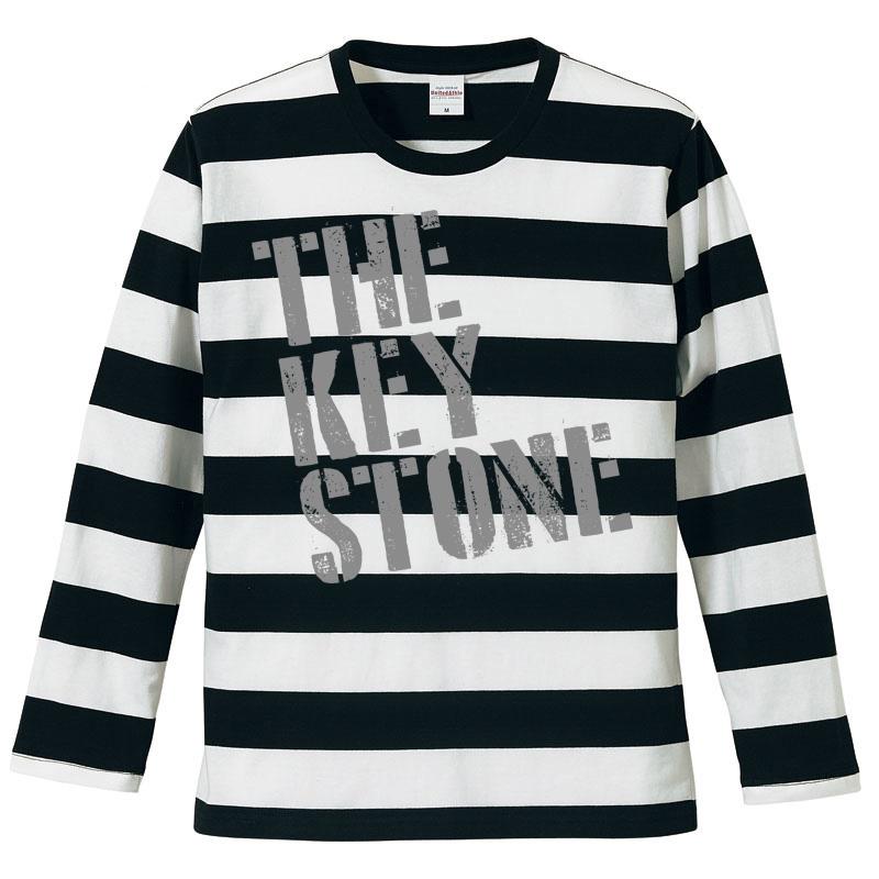 ステンシルロゴ 長袖ボーダーTシャツの写真
