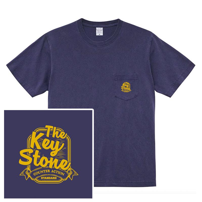 STANDARD LOGO ポケットTシャツ / ヴィンテージネイビーの写真