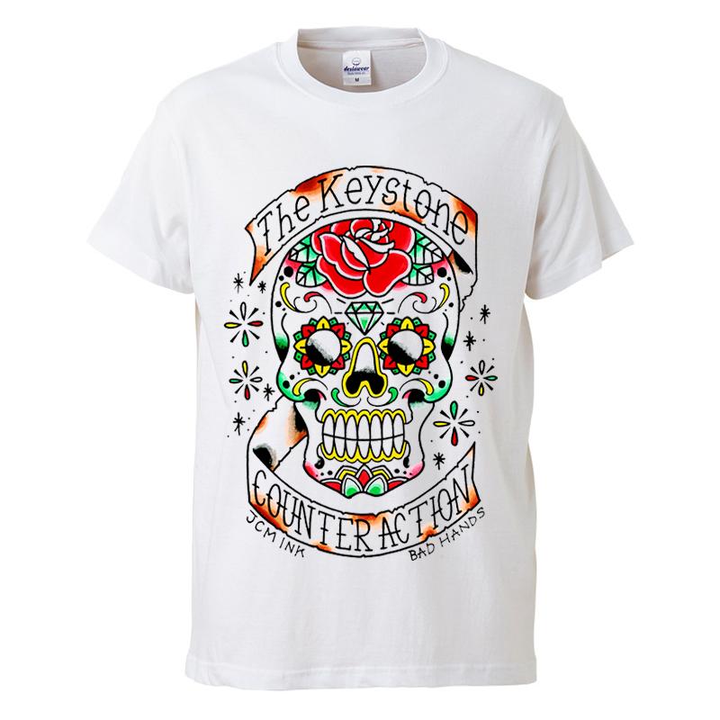 Calavera Tシャツ / 白の写真