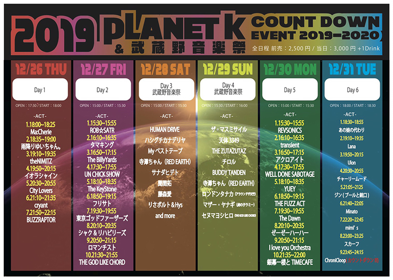 PlanetK Count Down Event 2019-2020 Day 2の写真