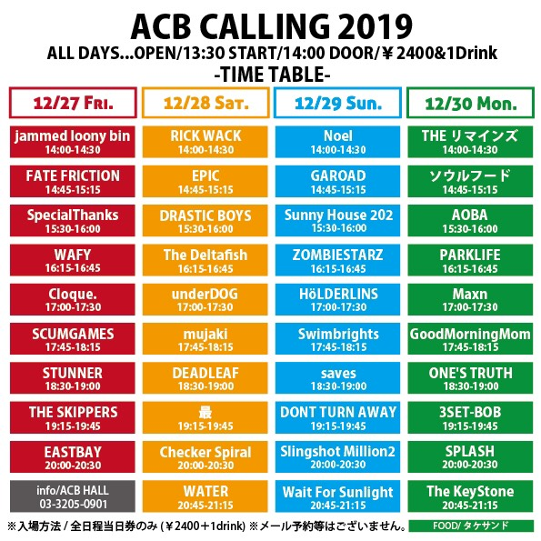 ACB pre『ACB CALLING 2019』day-4の写真